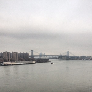 View of Williamsburg bridge from Manhattan Bridge