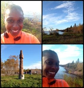Minnesota morning run collage