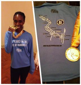 Philly marathon medal shirt