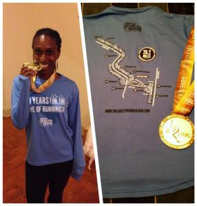 Philly marathon medal shirt