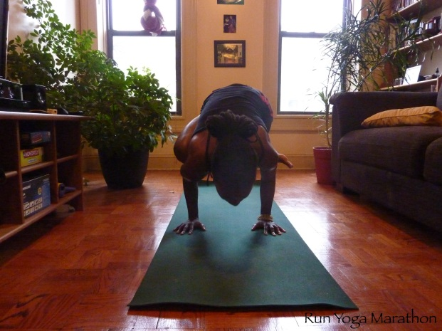 Eka Pada Galavasana with bended knee