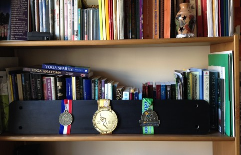 Marathon medal display