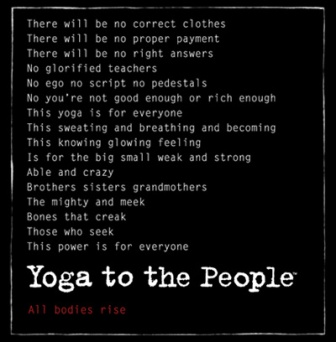 Yoga to the people mantra