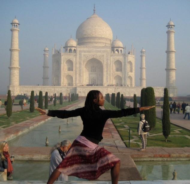 Yoga at the Taj Mahal