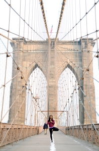 Kavisa Tree Pose Brooklyn Bridge