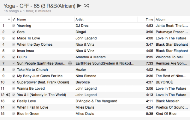 Yoga - 65 min R&B African