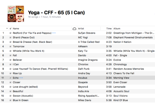Yoga - 65 (5 I Can)