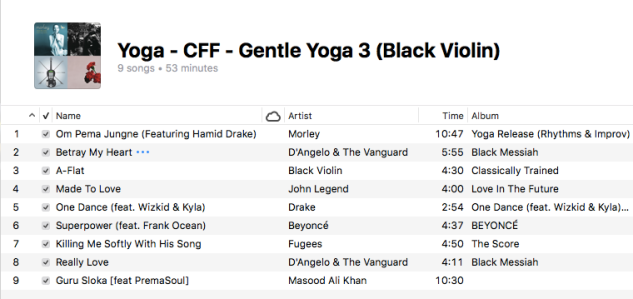 Yoga - Gentle Yoga (3 Black Violin)