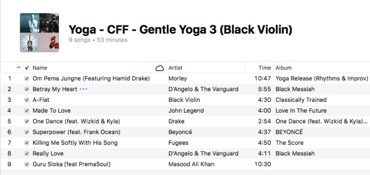 Yoga - Gentle Yoga (3 Black Violin)