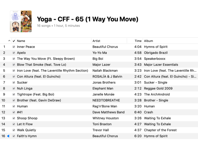 1 Yoga Mixed Levels Playlist 2019