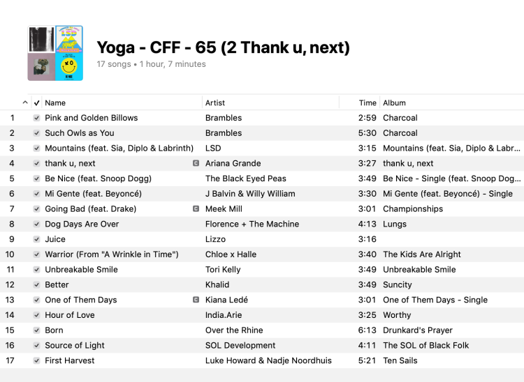 2 Yoga Mixed Levels Playlist 2019