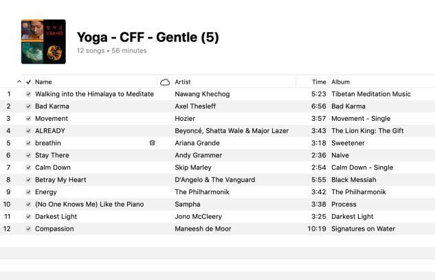 5 Yoga Gentle Playlist 2019