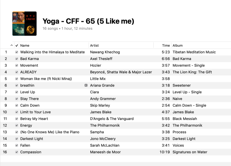 5 Yoga Mixed Levels Playlist 2019